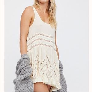 NWOT Free People | Voile Lace Trapeze Dress